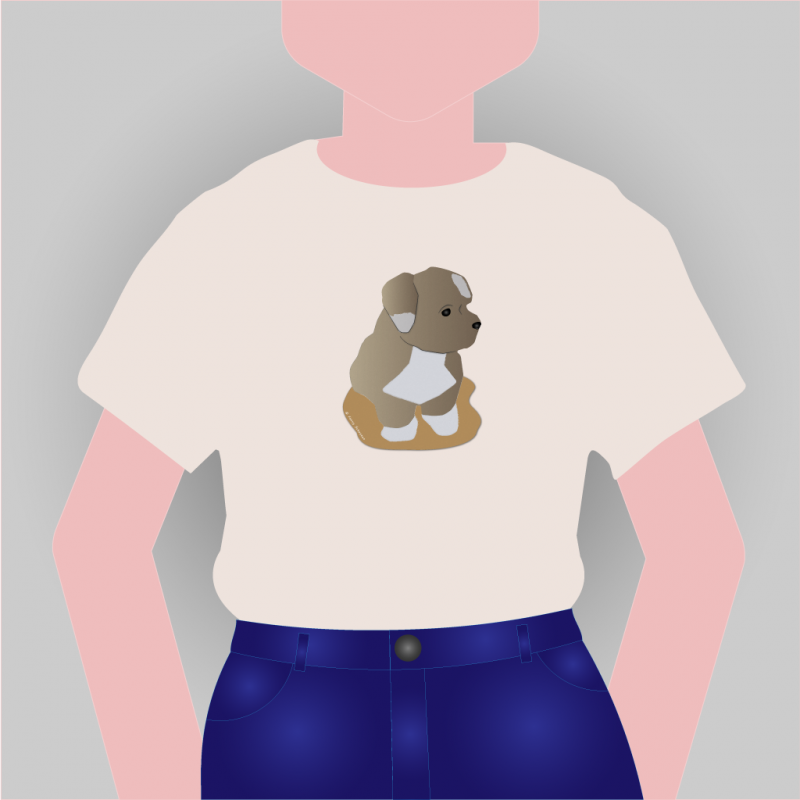 T-shirt met huisdier